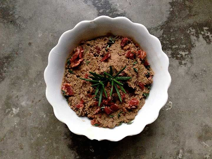 Bacon-Beef Liver Pâté with Rosemary and Thyme  (The recipe that got me to like beef liver - a task I thought was impossible!)