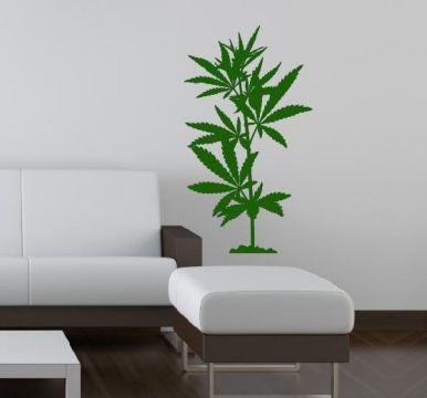 Vintage cannabis hanf gras pflanze wandaufkleber wandtattoos wandtattoo wandsticker walldecal bestellen wand deko tattoo kaufen aufkleber
