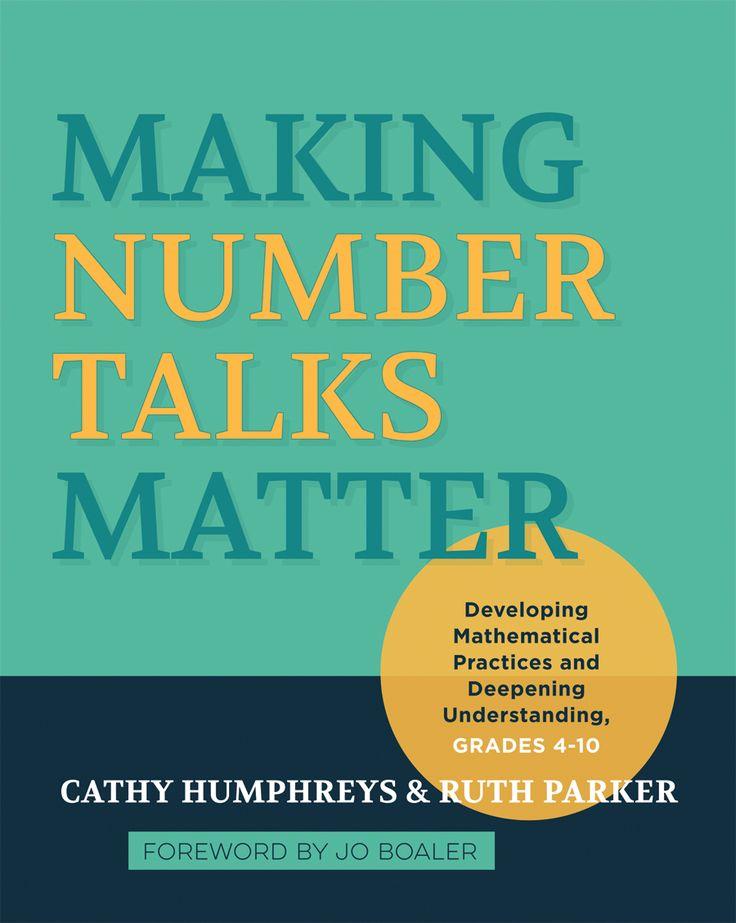 One of my go-to books for Number Talks K-8 Making Number Talks Matter | #MathSummerReading
