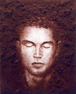 """Vik MUNIZ, """" Critiano Ronaldo"""" (Pictures of Portuguese soil) (A terra e a gente), 2007 - Photographie, 225,7 x 180 cm, Paris, Galerie Xippas"""