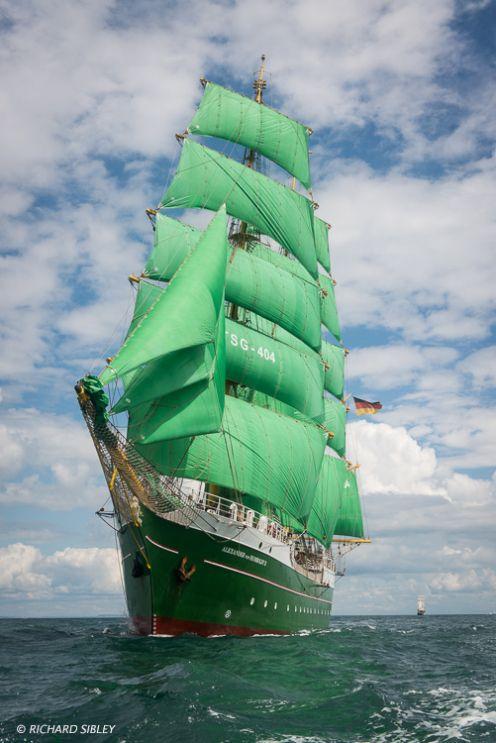 3 Masted barque, Aleander von Humboldt ll, Germany. Torbay – Lisbon 2016