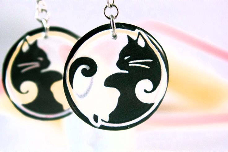 A personal favourite from my Etsy shop https://www.etsy.com/listing/265996000/cat-earrings-transparent-earrings-black