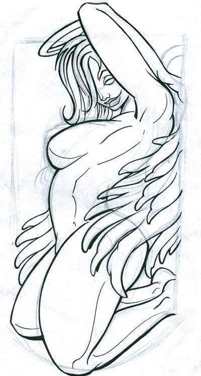 Naked woman tattoo patterns