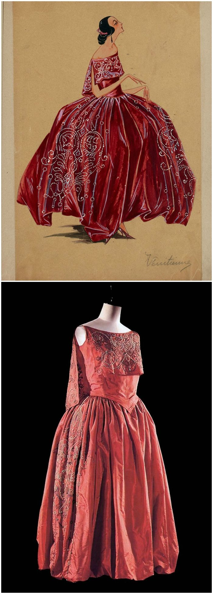 "Dress, ""Vénitienne,"" by Jeanne Lanvin, 1921-22. Photos via: (Top): Maximidimini."