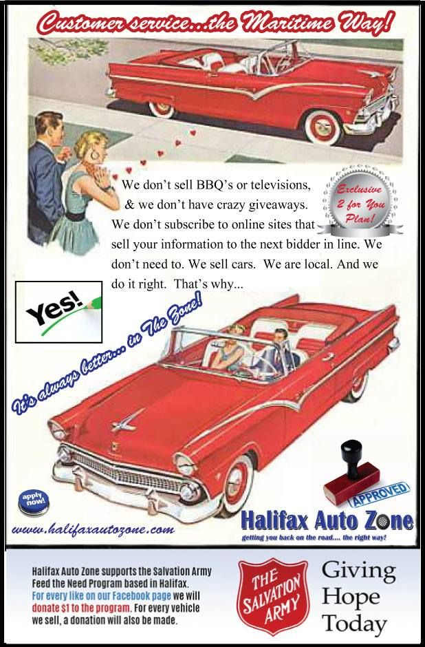 Customer service, great vehicles, better protection, best approvals. It's always better in the zone #halifaxautozone