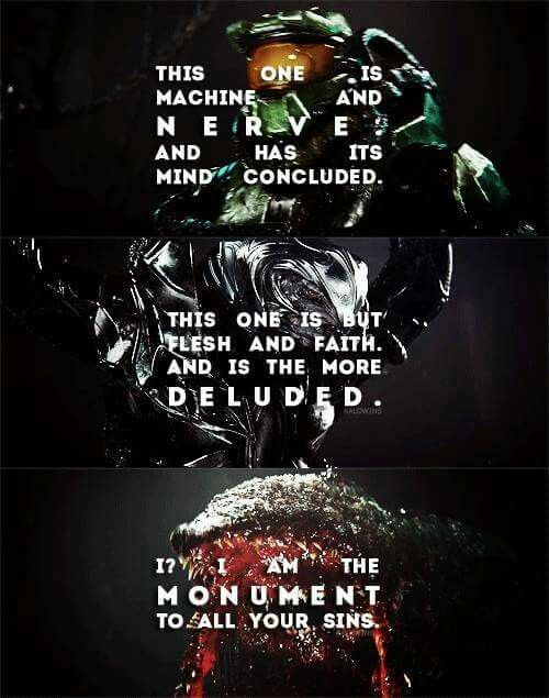 Really cool quote to describe Thel Vadam and John... and then there's the Gravemind where at this point you're just like NOPENOPENOPEBYE