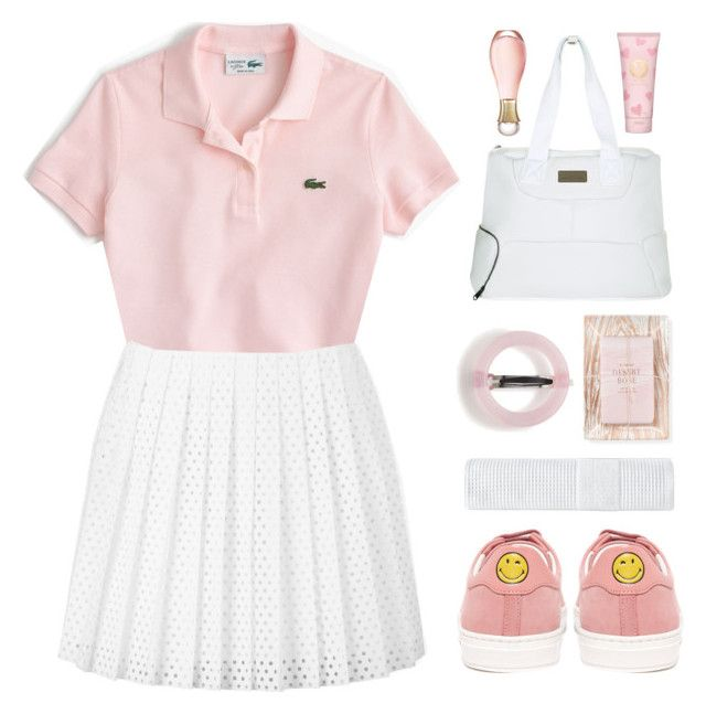 """Tennis"" by askhaerunisa ❤ liked on Polyvore featuring Anya Hindmarch, J.Crew, McQ by Alexander McQueen, adidas, Enchanté, Fringe, Tory Burch, Christian Dior, tennis and emojifashion"