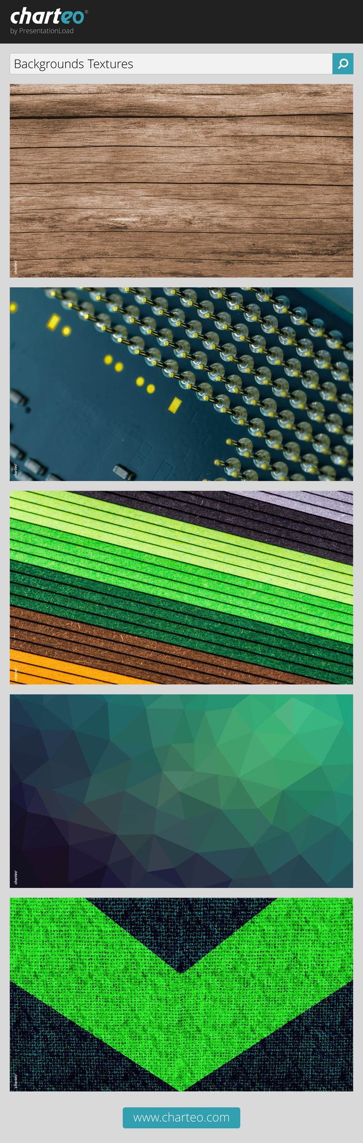 These simple texture slides are excellently usable as background for presentations.