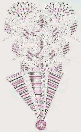 Kira scheme crochet: Scheme crochet no. 536