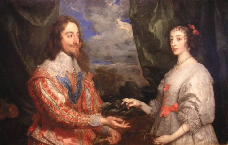 Van Dyck's portrait of Charles I of England with his wife, Henrietta Maria. (which I imagine hanging on the wall at The Manor).