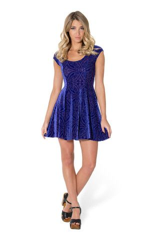 Burned Velvet Blurple Evil Cheerleader Dress 3.0 - LIMITED