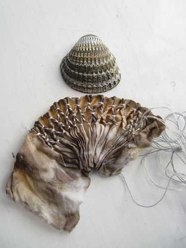Great Example of drawing on nature to make your own beautiful thing in completely different materials! tinctory makes smocking magical
