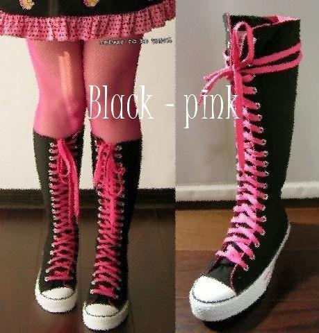 Черно розовые кеды