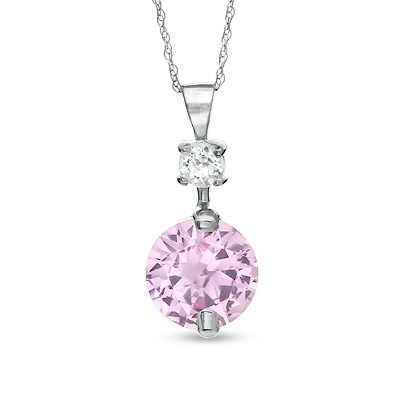 Pink Sapphire and White Topaz from Zales. Mother's Day anyone?