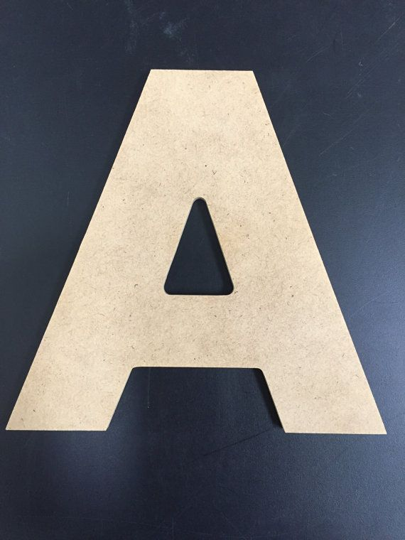Unfinished Wood Letters  1/4 MDF  Aharoni Font by AmUSABLE on Etsy