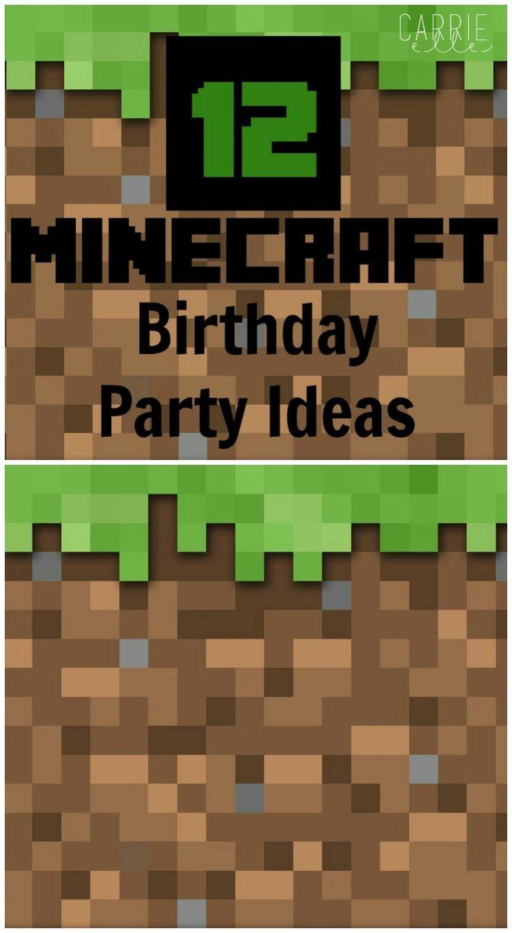 Mine craft birthday ideas - 12 Minecraft Party Ideas
