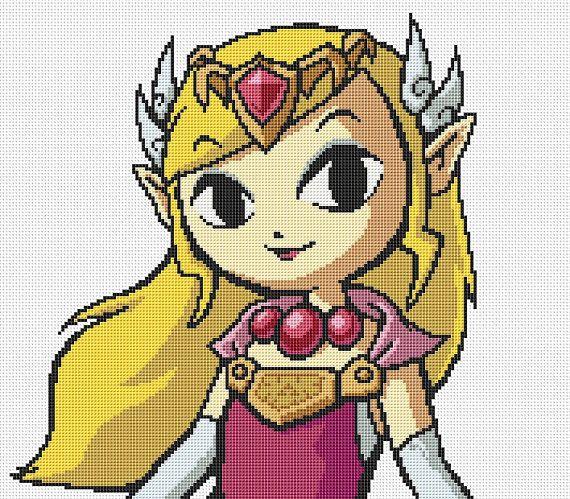 Pixel Art Princess Zelda
