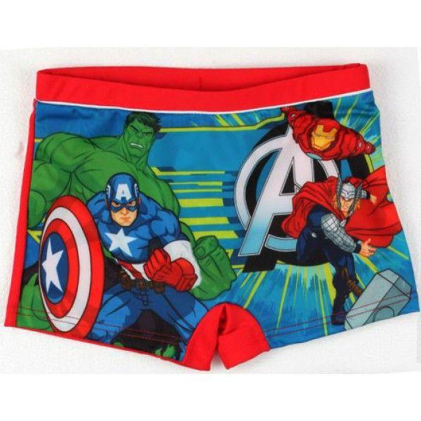 Marvel Avengers badebukser med Ironman Thor og Hulk