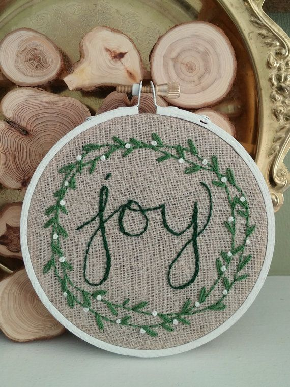 A beautiful reminder of what the Christmas season is all about, this hoop makes a lovely ornament or holiday gift. It can also be set on a mantle or