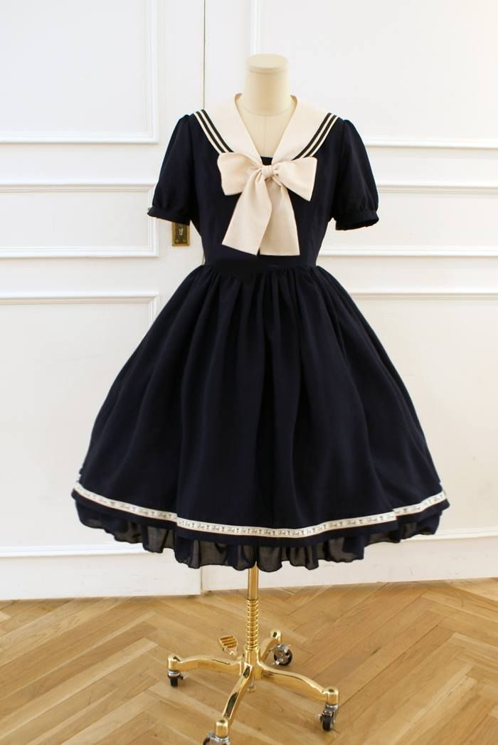 navy/nautical lolita dress