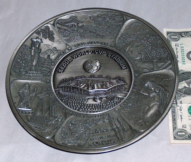 Korea Japan Seoul World Cup Soccer Futbal Metal Collectible Stadium Plate Pewter    eBay