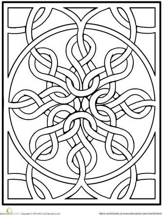 Worksheets: Celtic Mandala