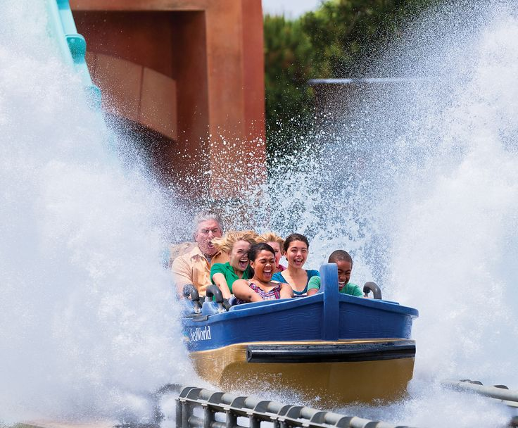 Journey to Atlantis - a one-of-a-kind water-coaster with two of the steepest, fastest, wettest drops anywhere.