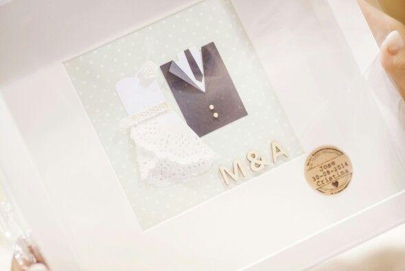 Novios en papel para regalar a los próximos novios #regalo #novios #boda #wedding #diy #