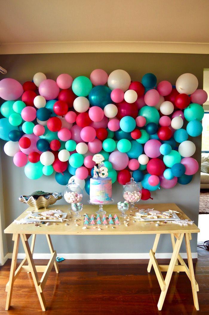 Colorful Mermaid Birthday Party on Kara's Party Ideas | KarasPartyIdeas.com (20)