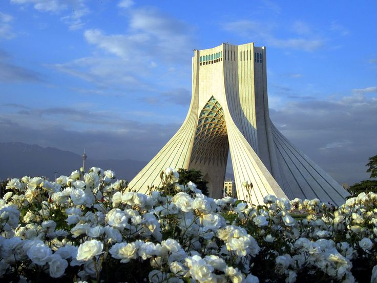 The Azadi Tower in Tehran, Iran, was erected in 1973 to commemorate the 2500th anniversary of first Persian empire. In recent years it has been the venue of mass protest demonstrations.