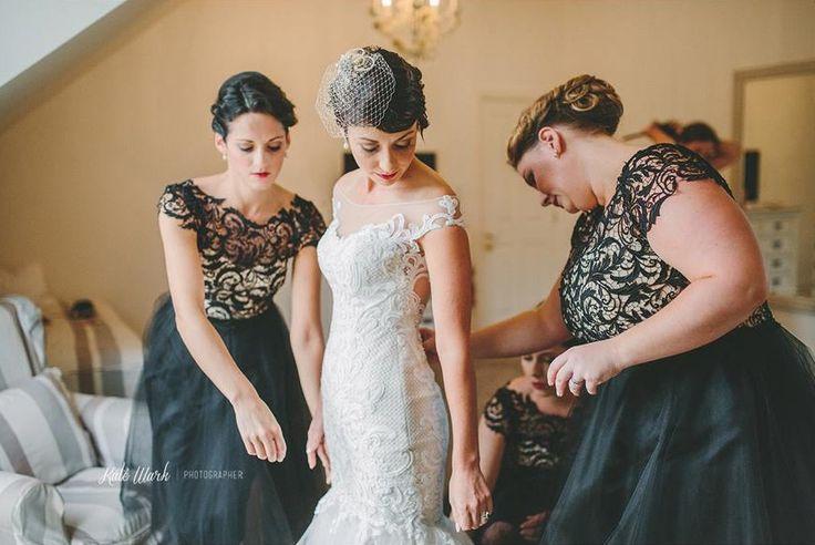 Tiffiney's bridesmaids in Natalie Chan