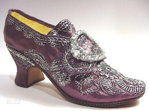 Martha Washington Purple Wedding Shoes