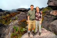 Rod and Christi on the summit of Roraima, Venezuela, South America