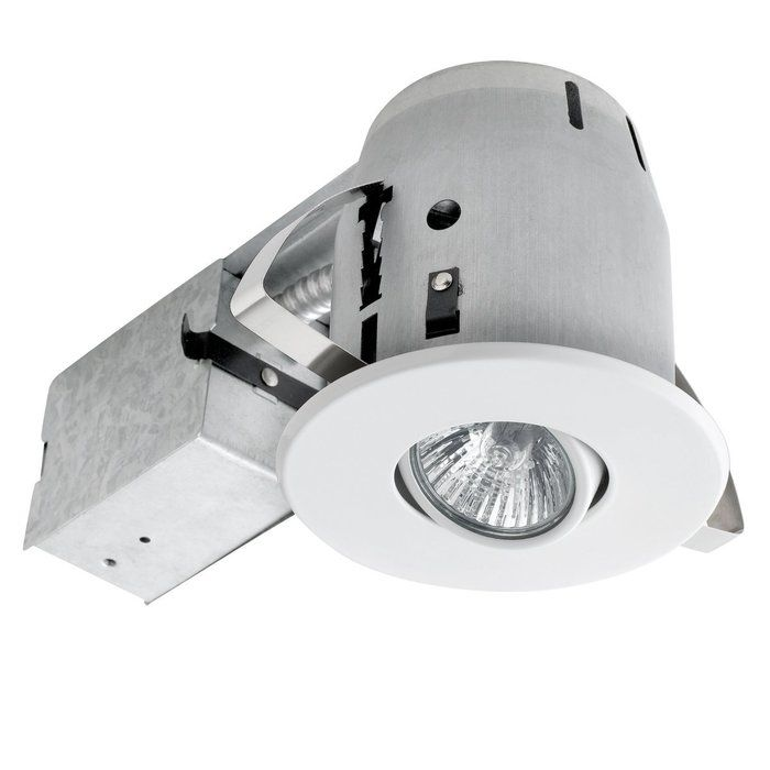 This recessed kit is the perfect way to brighten up the interior your home with style. This recessed lighting kit features patented Push-N-Click clips which are fully adjustable and extra wide to grip uneven surfaces and provides for easy tool-free installation. This recessed light features a swivel light bulb, giving you the ability to focus light on specific areas and can be directed for any desired look. This pot light kit features an integrated cut-off switch, ensuring that the fixture…