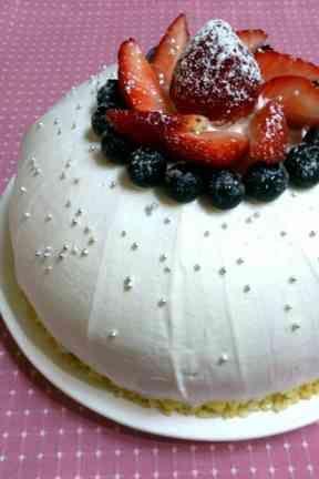 ダブルムースのドームケーキ(ズコット)