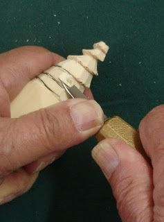 Beginners Carving Corner and Beyond: Whittled Christmas Tree Ornament