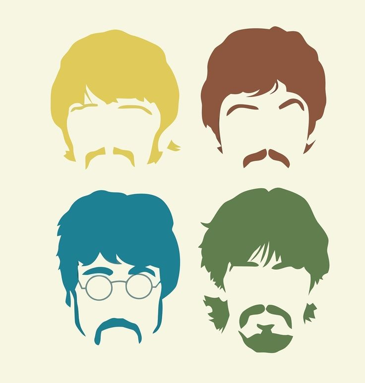 The Beatles Wall Art $8.00 per head or $30.00 for all 4 (One Colour)