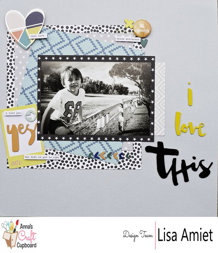 Anna's Jan '17 kit is now available through the Anna's Store http://www.annascraftcupboard.com.au/store/annas-kits-c-4293/. Lisa @leesyjsnaps  has applied her creative talents on our latest kit and WOW! She has delivered with 3 beautiful layouts and a card. Lisa's final layout is one for the boys, this layout is titled 'I Love this'. Visit our blog for more information http://www.annascraftcupboard.com.au/blog/kit/2017-january-kit-lisa-amiet/ #scrapbooking #annaskits #annascraftcupboard