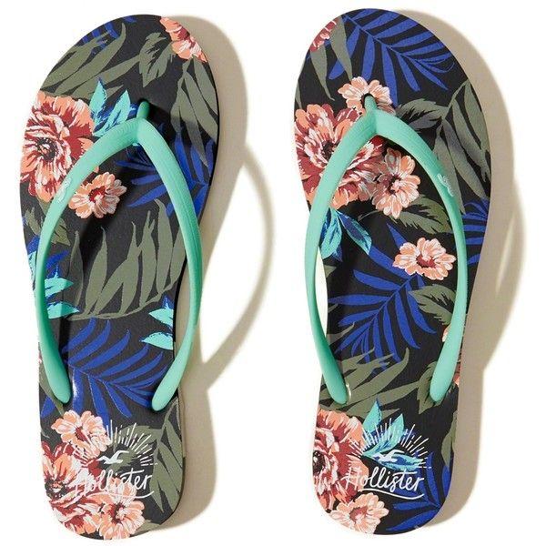 Hollister Floral Rubber Flip Flops ($9.95) ❤ liked on Polyvore featuring shoes, sandals, flip flops, black floral, kohl shoes, flower pattern shoes, rubber sandals, floral printed shoes and floral print sandals