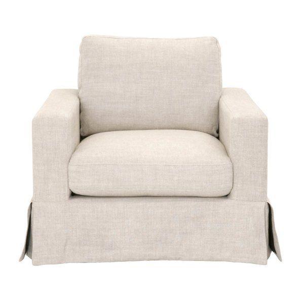 Rowley Armchair Linen Sofa Chair Tufted Chair