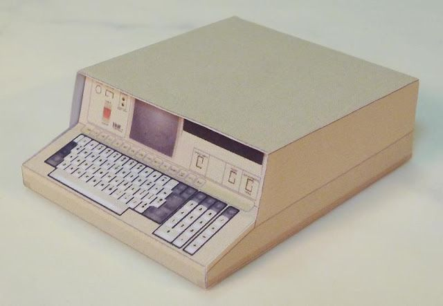 PAPERMAU: IBM 5100 Portable Computer Paper Model In 1/12 Sca...