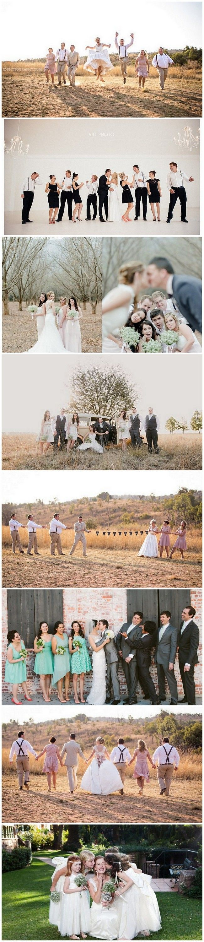 Fun Bridal Party Photo Ideas http://www.confettidaydreams.com/wedding-photo-ideas-and-poses-for-your-wedding-party/