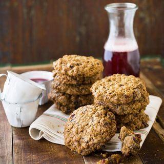 Havrecookies med tranbär