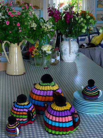 Tea cozies for all sizes of teapots