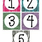 "This is part of my ""Zebra Print Classroom"" series.  With these numbers, you can create a 'Sudoku' bulletin board. I printed 9 sets to make sure I..."