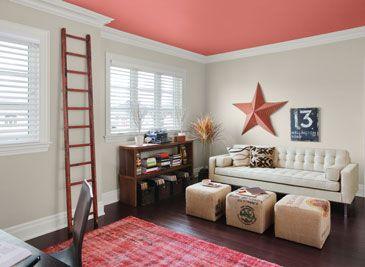 Bureau à la maison pour du piquant dans votre vie   Murs : Étain (HC-172), plafond : feuilles mortes 2088-40, moulure : raffiné (AF-75)