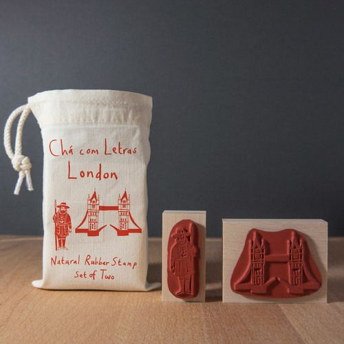 London Rubber stamp set
