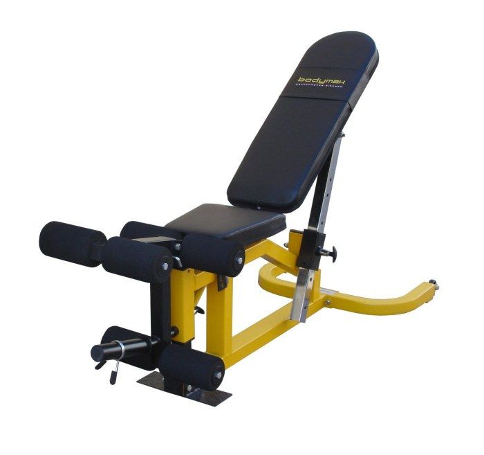 The Bodymax CF510 Elite Utility Bench is a versatile, heavy duty bench that provides you with a wide range of back rest and seat support angles for performi