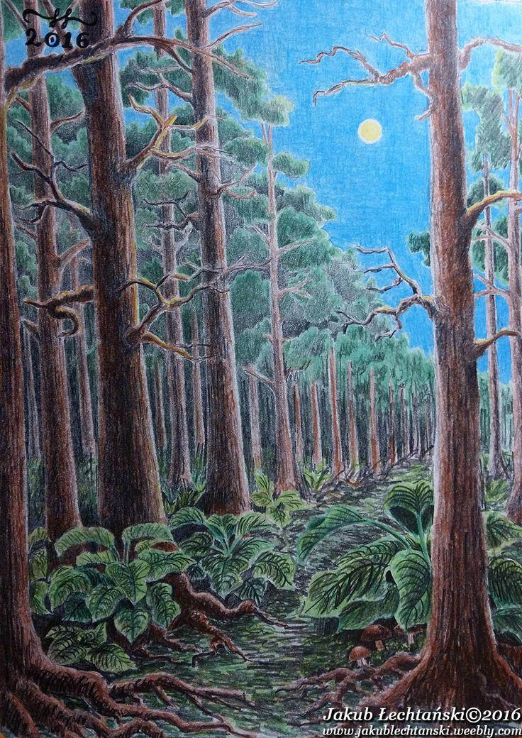 "Rysunek ""Skraj lasu"" 2016. Another forest drawing."