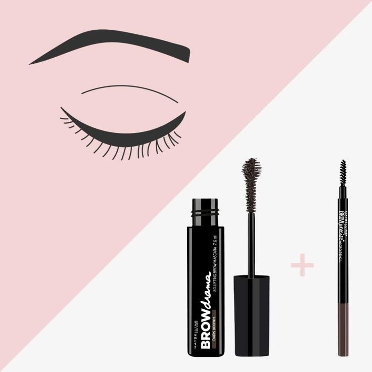 Here's how to achieve perfect brows thanks to Maybelline Brow Drama Sculpting Brow Mascara and the Maybelline Brow Precise Micro Pencil.